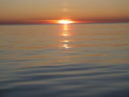 Закат и сразу восход