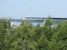 Новый строящийся мост через р. Сура