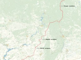 Маршрут от Самары  до Югорска 1600 км., дальше пойдем по зимникам