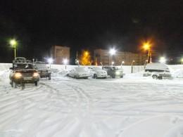Ночёвка на стоянке в Североуральске