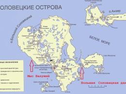 Карта-схема Соловков