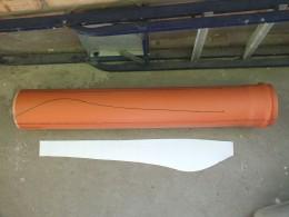 ПВХ труба диаметром 160 мм.