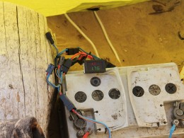 Зарядный ток - 1,76А. Макс был 2,4А