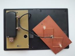 Обе антенны одинаковые со стороной квадрата 37 мм.