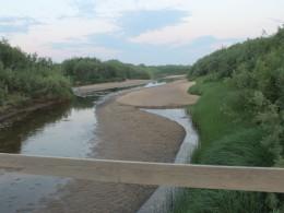 Вид с моста на Кулойский канал.