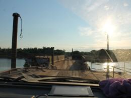 Понтонная переправа через р. Мезень