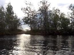 Урочище Черные Пески. За 3-х метровым перешейком Онежское озеро
