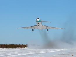 Ижма взлет Ту-154  24 марта 2011 г.