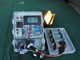 Разряд LiFePO4 10 а/ч током 6,2 ампера