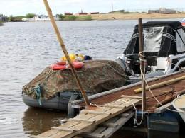 На ведомственном причале нашлось место нашему кораблику