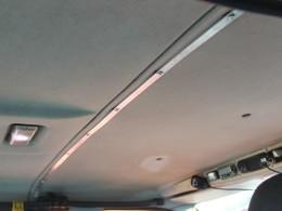 Крепление шторы непосредственно к потолку при помощи алюминиевой полосы 20х2 мм.