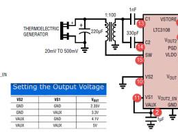 Схема подключения LTC3108