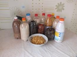 Сушеные продукты плюс мука и крупы на 10 суток полноценного питания 2 человек