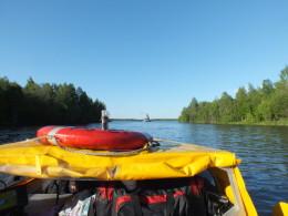 Выходим в Кишемское озеро