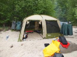 Шатёр с палаткой внутри