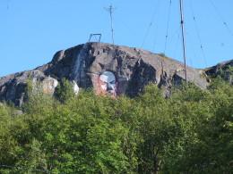 Ленин на фоне антенн