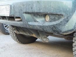 Немного погнули защиту рулевых тяг.