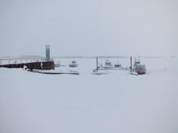 Северная Сосьва местный флот на зимовке