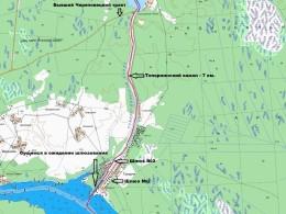 Топорнинский канал на карте