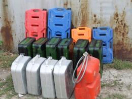 260 литров под бензин и 20 под пресную воду. Должно хватить