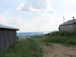 Вид на Пинегу с высоты Красной горки, самой высокой точки Архангельской области.