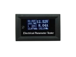 Прибор измеряет ток, напряжение, время и емкость в ампер часах