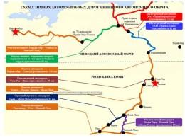 Схема зимников Коми и НАО