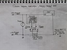 Схема подключения ваттметра.