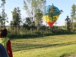 Воздушный шар под Вологдой.
