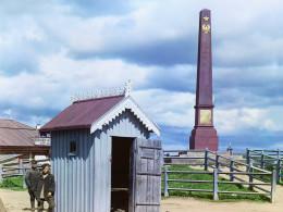 Обелиск в Вознесенье. Пропал во время финской оккупации.  Фото 1909 г.