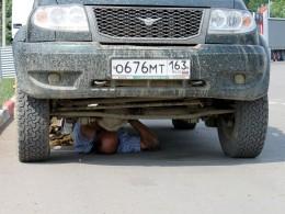 Ставлю передний кардан.