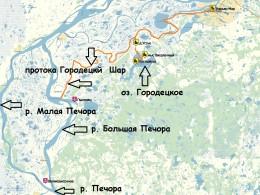 Протока Городецкий Шар на карте